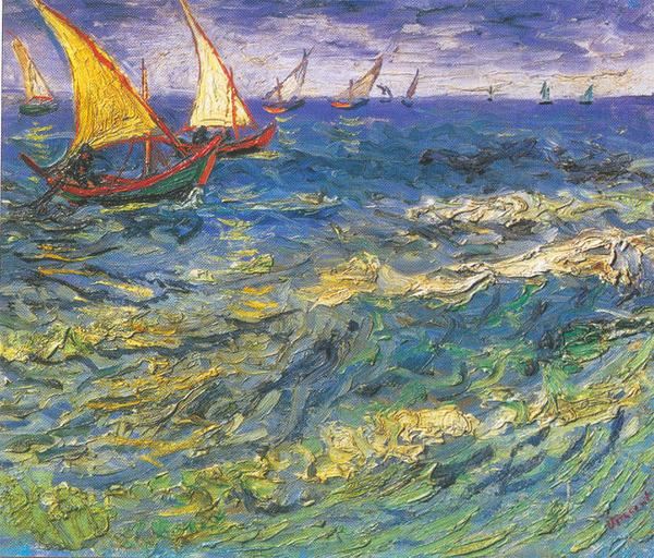 Морской пейзаж в Сен-Мари Ван Гога: vangoghforever.narod.ru/kartinaygalery.html